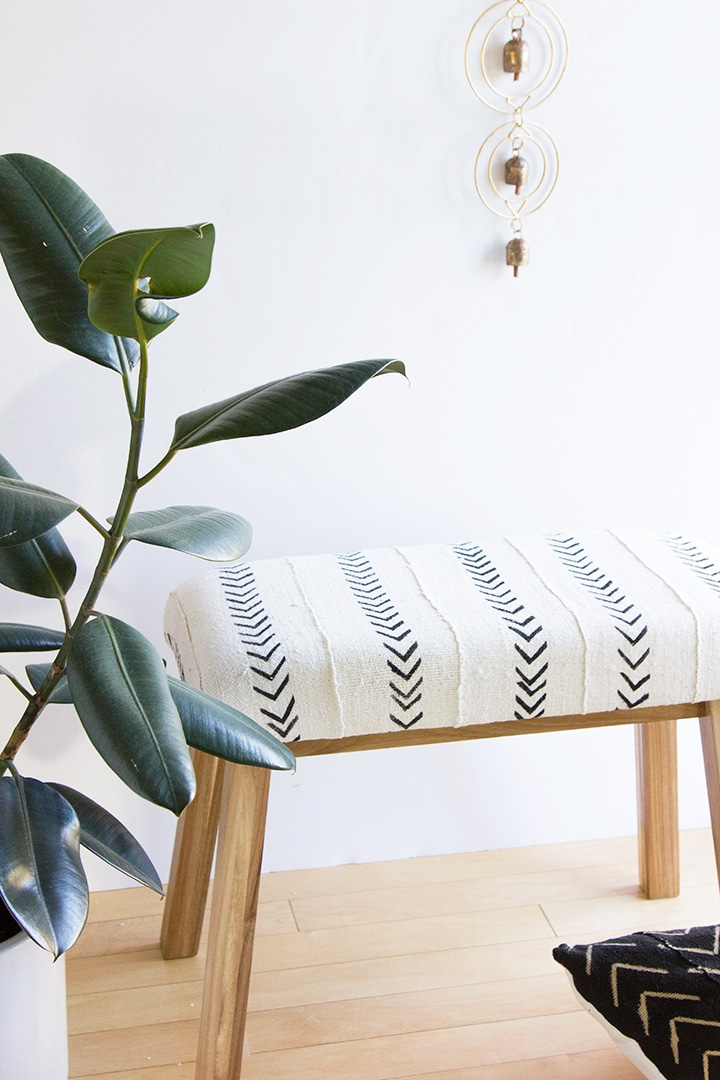 Ikea-Hack-Mudcloth-Upholstered-Bench-2