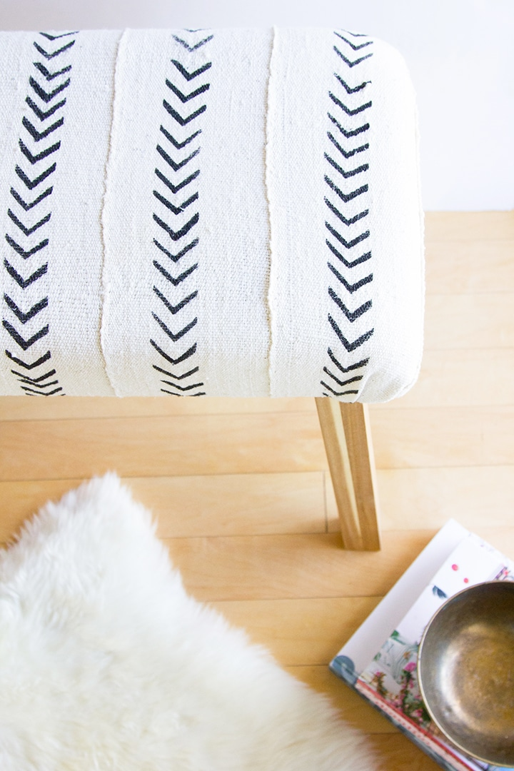 Ikea-Hack-Mudcloth-Upholstered-Bench-3